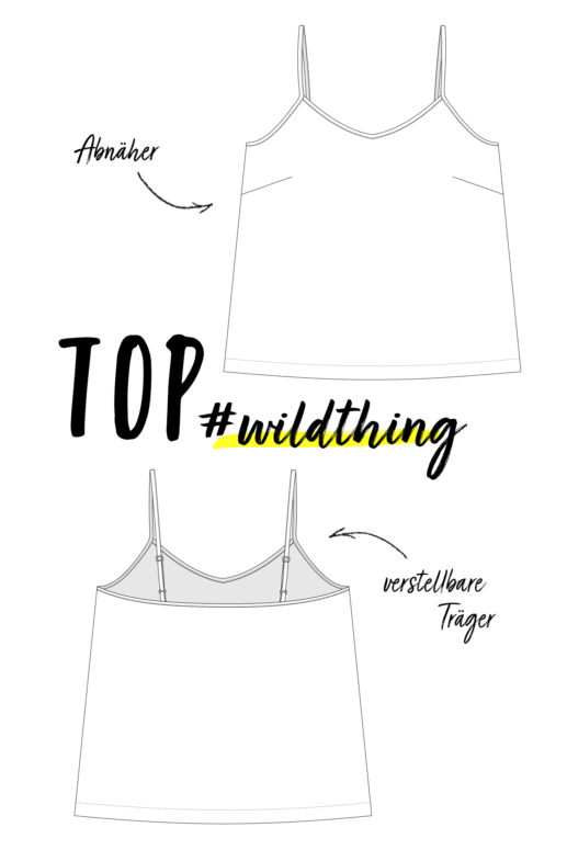 Schnittmuster Top #wildthing nähen mit Yes, Honey