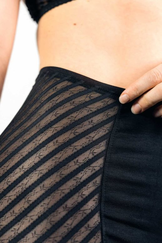 Schnittmuster High Waist Brief #buttyholly mit flachgesteppten Nähten