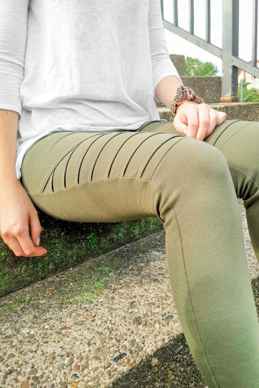 Schnittmuster Biker Leggings #jessijames nähen mit Yes, Honey