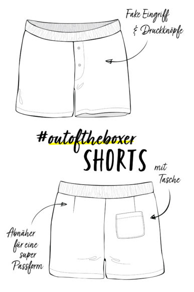 Schnittmuster #outoftheboxer Shorts nähen mit Yes, Honey
