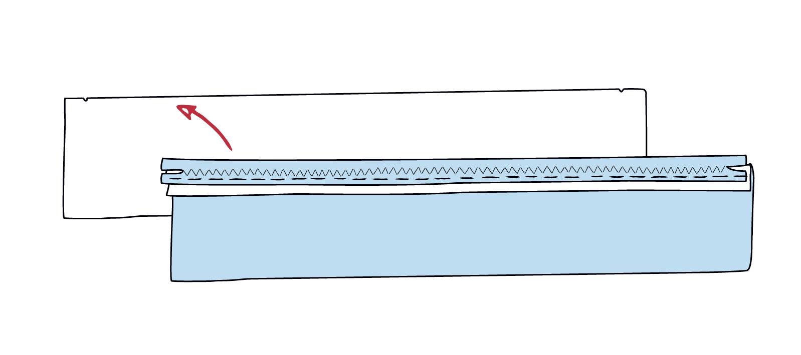zweite Reißverschluss-Seite annähen
