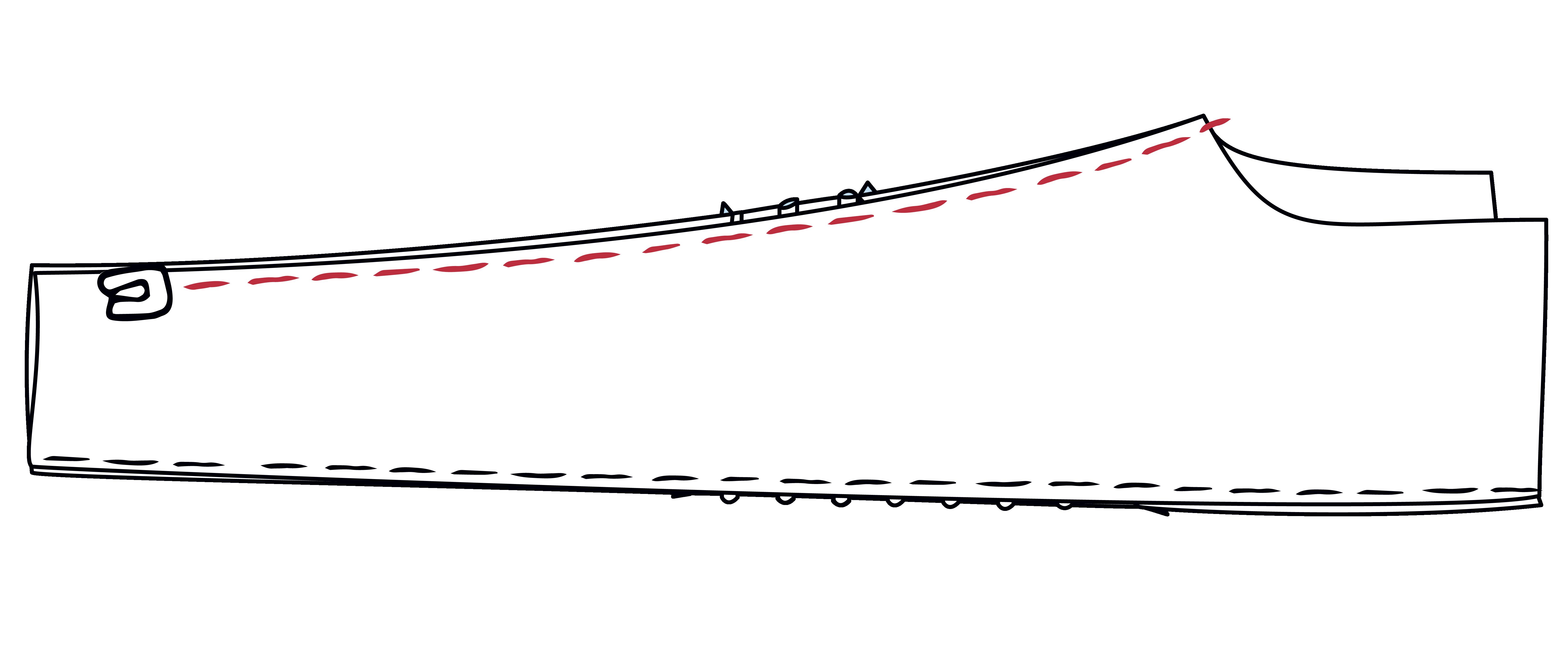 Die Innenbeinnaht von Vorder- und Rückteil wird zusammengenäht und das Hosenbein zu einer Röhre geschlossen